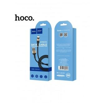 Juodas-Auksinis USB kabelis HOCO X26 lightning 1m