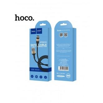 Juodas-Auksinis USB kabelis HOCO X26 Type-C 1m