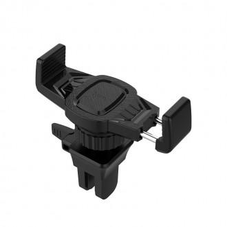 Juodas automobilinis Universalus telefono laikiklis HOCO CA38, tvirtinamas ant ventiliacijos grotelių
