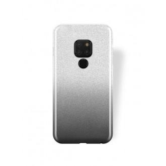 "Juodas blizgantis silikoninis dėklas Huawei Mate 20 telefonui ""Bling"""