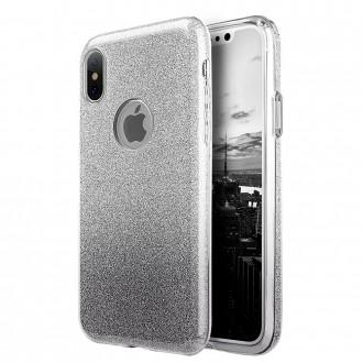 """Juodas blizgantis silikoninis dėklas Xiaomi Redmi 8A telefonui """"Shine"""""""