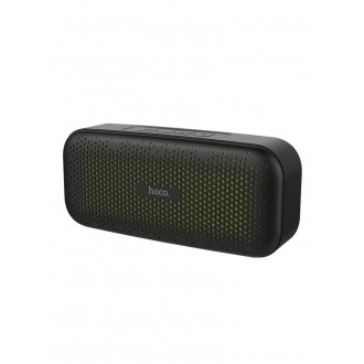 Juodas Bluetooth nešiojamas garsiakalbis HOCO BS23 su LCD ekranu