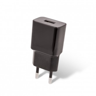 Juodas buitinis įkroviklis Maxlife MXTC-01 FastCharging USB + microUSB (2.1A)