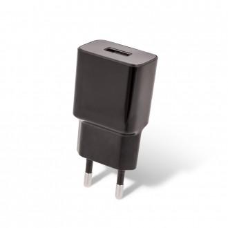 Juodas buitinis įkroviklis Maxlife MXTC-01 USB + microUSB (1A)