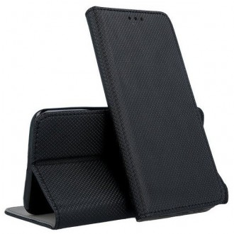 """Juodos spalvos atverčiamas dėklas """"Smart Magnet"""" telefonui Samsung A32 5G A326"""