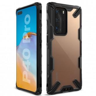 """Juodas dėklas Huawei P40 Pro telefonui """"Ringke Fusion"""""""
