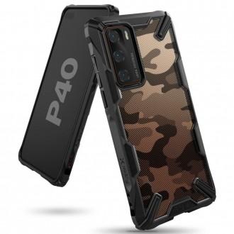 """Juodas dėklas Huawei P40 telefonui """"Ringke Fusion Camo"""""""