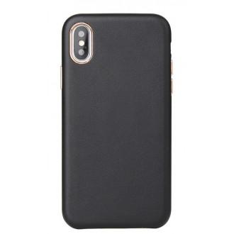 "Juodas dėklas ""Leather Case"" Apple Iphone XR telefonui"