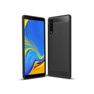 """Juodas dėklas Samsung Galaxy A750 A7 2018 telefonui """"Carbon"""""""