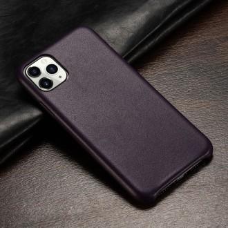 Juodas dirbtinės odos dėklas telefonui Iphone 12 Pro Max