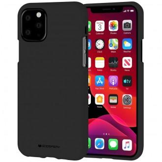 "Juodas silikoninis dėklas Apple iPhone 11 Pro Max telefonui ""Mercury Soft Feeling"""