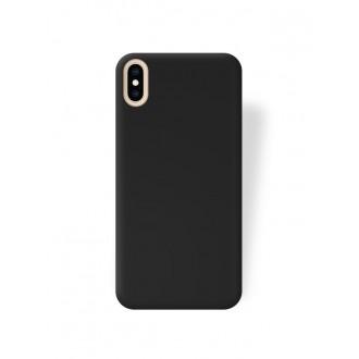 """Juodas silikoninis dėklas Apple iPhone XS Max telefonui """"Rubber TPU"""""""