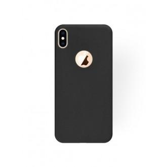 """Juodas silikoninis dėklas Apple iPhone XS Max telefonui """"Silicone Cover"""""""