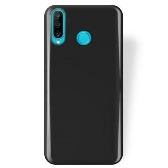 """Juodas silikoninis dėklas Huawei P30 Lite telefonui """"Rubber TPU"""""""