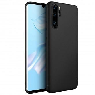 """Juodas silikoninis dėklas Huawei P30 Pro telefonui """"Spigen TPU Case"""""""