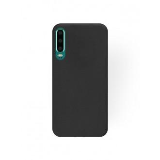 """Juodas silikoninis dėklas Huawei P30 telefonui """"Rubber TPU"""""""