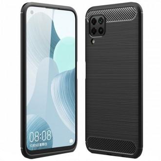 """Juodas silikoninis dėklas Huawei P40 Lite telefonui """"Carbon Lux"""""""