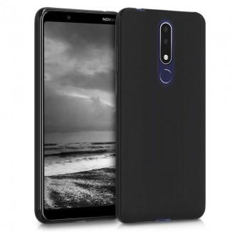 """Juodas silikoninis dėklas Nokia 3.1 Plus telefonui Mercury Goospery """"Soft Jelly Case"""""""
