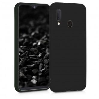 "Juodas silikoninis dėklas Samsung Galaxy A202 A20e telefonui ""Mercury Soft Feeling"""