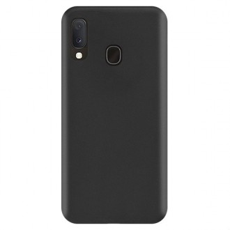 "Juodas silikoninis dėklas Samsung Galaxy A202 A20e telefonui ""Rubber TPU"""
