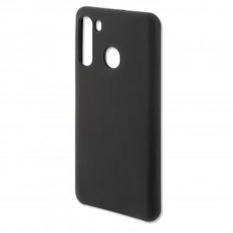 """Juodas silikoninis dėklas Samsung Galaxy A21 telefonui """"Rubber TPU"""""""
