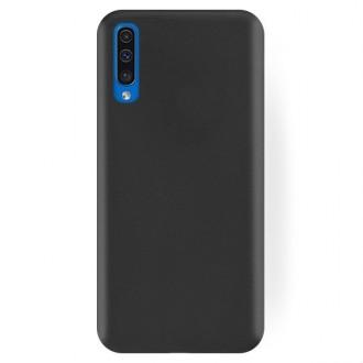 """Juodas silikoninis dėklas Samsung Galaxy A505 A50 telefonui """"Rubber TPU"""""""