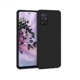 "Juodas silikoninis dėklas Samsung Galaxy A515 A51 telefonui ""Mercury Soft Feeling"""