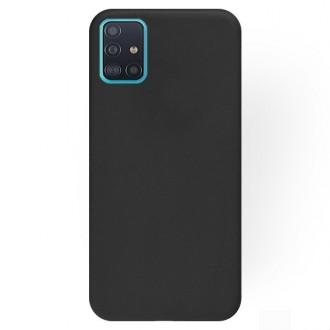 """Juodas silikoninis dėklas Samsung Galaxy A515 A51 telefonui """"Rubber TPU"""""""