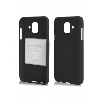"Juodas silikoninis dėklas Samsung Galaxy A600 A6 2018 telefonui ""Mercury Soft Feeling"""