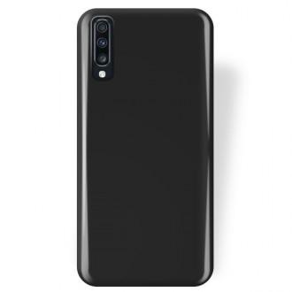 """Juodas silikoninis dėklas Samsung Galaxy A705 A70 telefonui """"Rubber TPU"""""""