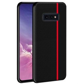 """Juodas silikoninis dėklas Samsung Galaxy G970 S10e telefonui """"Mulsae Carbon"""""""