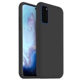 """Juodas silikoninis dėklas Samsung Galaxy G981 S20 telefonui """"Liquid Silicone"""" 1.5mm"""
