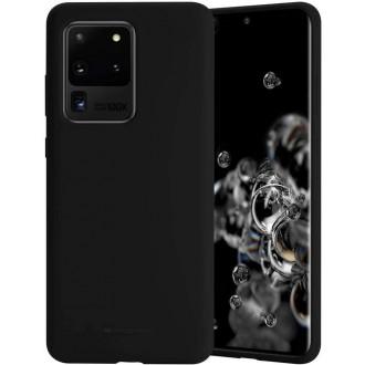 """Juodas silikoninis dėklas Samsung Galaxy G988 S20 Ultra telefonui """"Mercury Soft Feeling"""""""