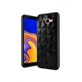 """Juodas silikoninis dėklas Samsung Galaxy J415 J4 Plus 2018 telefonui """"Prism"""""""