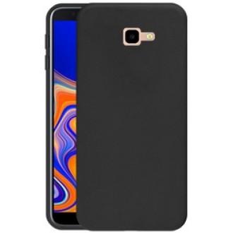 """Juodas silikoninis dėklas Samsung Galaxy J415 J4 Plus 2018 telefonui """"Silicone Cover"""""""