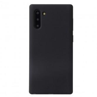 """Juodas silikoninis dėklas Samsung Galaxy N970 Note 10 telefonui """"Liquid Silicone"""""""