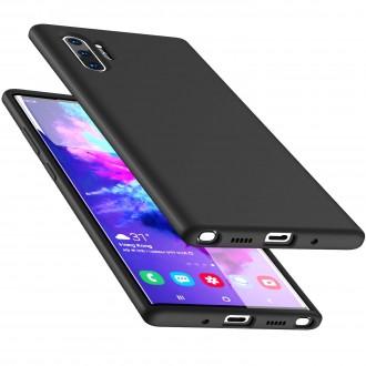 """Juodas silikoninis dėklas Samsung Galaxy N975 Note 10 Plus telefonui """"Liquid Silicone"""" 2.0mm"""