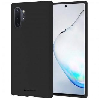 """Juodas silikoninis dėklas Samsung Galaxy N975 Note 10 Plus telefonui """"Mercury Soft Feeling"""""""