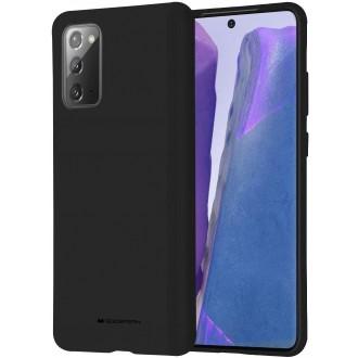 """Juodas silikoninis dėklas Samsung Galaxy N980 Note 20 telefonui """"Mercury Soft Feeling"""""""