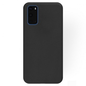 """Juodas silikoninis dėklas Samsung Galaxy S20 telefonui """"Rubber TPU"""""""