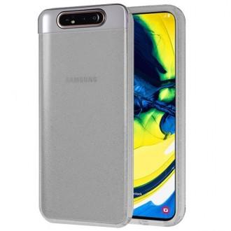 """Juodas silikoninis dėklas su blizgučiais Samsung Galaxy A805 A80 telefonui """"Glitter Crystal case"""""""