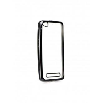 """Juodas silikoninis dėklas Xiaomi Redmi 4A telefonui """"Glossy"""""""