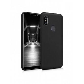 """Juodas silikoninis dėklas Xiaomi Redmi Note 6 / Note 6 Pro telefonui """"Silicone Cover"""""""