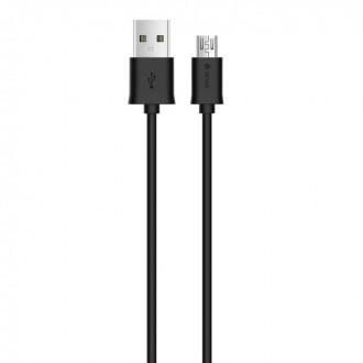 Juodas USB kabelis Devia Smart microUSB 1m