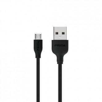 Juodas USB kabelis Proda FastCharging PD-B15m microUSB 2.1A 1.0m