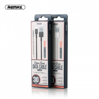 Juodas USB kabelis Remax FastCharging RC-120m microUSB 2.1A 0.3m