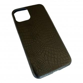 Juodas, Krokodilo Odos Imitacijos Dėkliukas iPhone 12 / 12 Pro Telefono Modeliui
