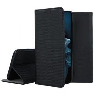 """Juodos spalvos atverčiamas dėklas Huawei Nova 5T / Honor 20 telefonui """"Smart Magnet"""""""