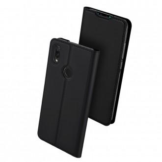 """Juodos spalvos atverčiamas dėklas Huawei P Smart 2019 telefonui """"Dux Ducis Skin"""""""