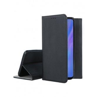 """Juodos spalvos atverčiamas dėklas Huawei P30 Pro telefonui """"Smart Magnet"""""""